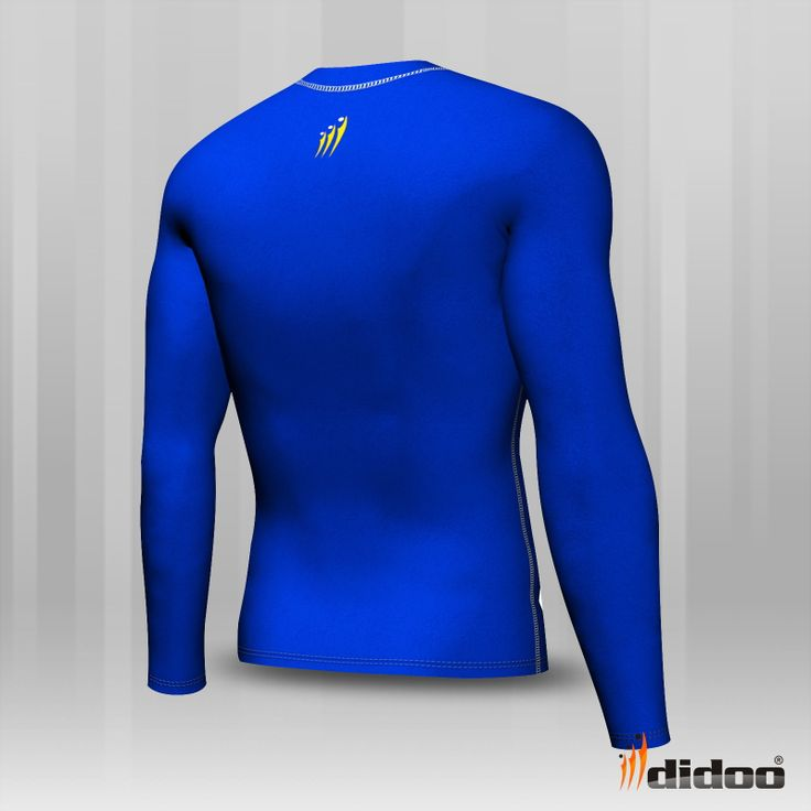 Ideal as a base layer or for training, Didoo Shirts are a tight fit compression garment. All Season Compression Baselayer which keeps you cool when its hot and keeps you hot when its cool. The light and tight compression fit is built to move with you for zero distractions, while the breathable, low profile design fits cleanly under a uniform. Flat lock stitching - eliminates thick seams, for greater comfort against the skin Colour-Blue