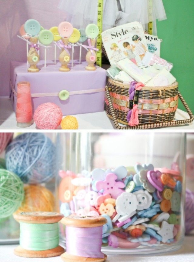 cute as a button birthday party or shower