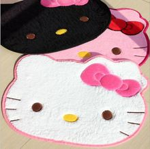 Hello kitty door mat super soft for living room 60*50cm anti slip bedroom carpet pink anti-bacteria cartoon animal cat rugs(China (Mainland))