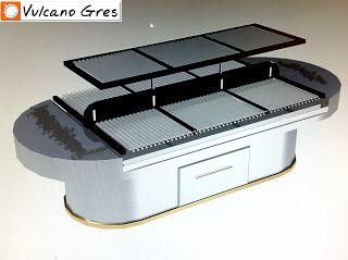 3.Fabrica de parrillas y barbacoas de carbón profesionales - Cerámica refractaria. Hornos, parrillas, barbacoas y buffets.