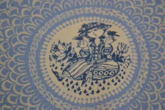 Scandinavian Bjorn Wiinblad vintage fabric by Scandinaviavandesign, kr180.00
