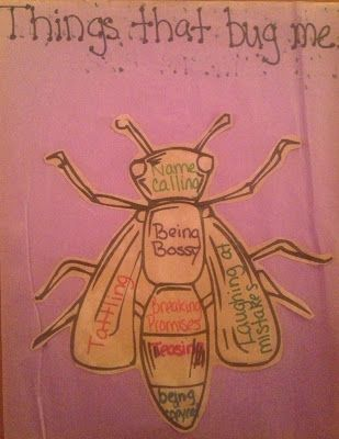 "Help students identify what ""bugs"" them with this creative idea from (the appropriately named) Creative Elementary School Counselor"