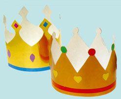 Coronas de reyes, manualidad para la fiesta de los niños