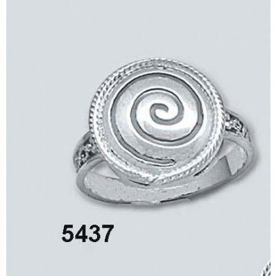 Δακτυλίδι Σπείρα Στρογγυλό Λευκό Κ14 Kallin