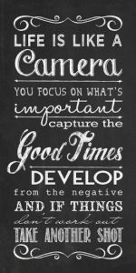 Camera quote - Simple Stampin