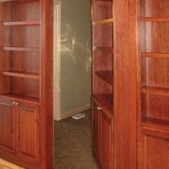 Hidden door. contemporary media room Bridgewater Contemporary Media Cabinets