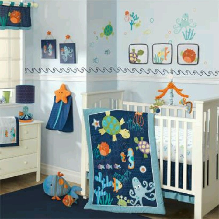 20 Beautiful Baby Boy Nursery Room Design Ideas Full Of: 22 Best Images About Under The Sea Nursery On Pinterest
