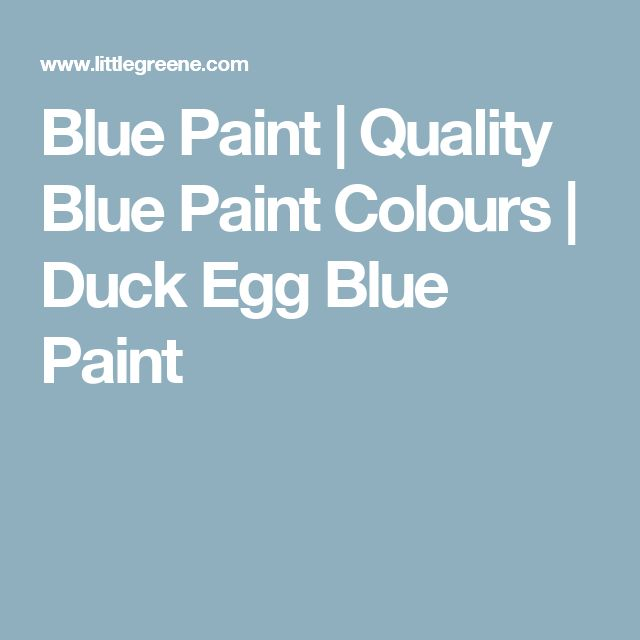 Little Greene - Duck Egg Blue Paint, walls in spare front room ensuite