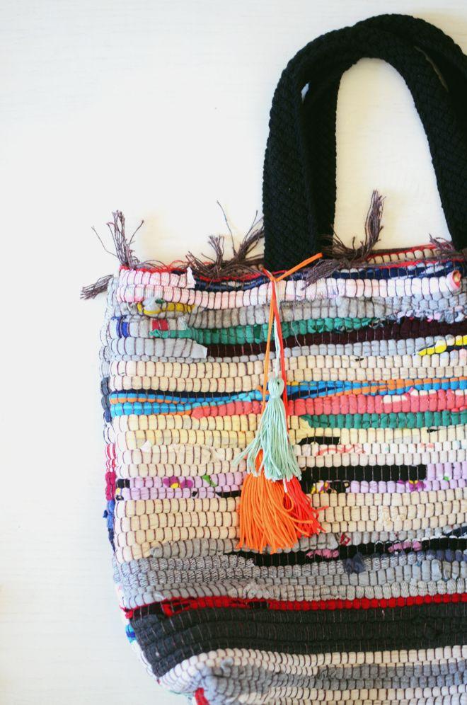 diy: rag rug bag | CAKIES | Bloglovin'