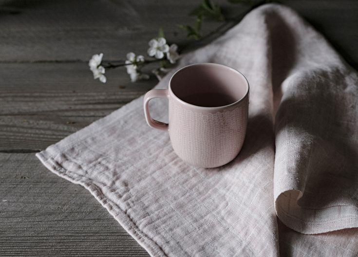 Lastu canovaccio rosa di puro lino. \\ Lastu pure linen tea towel, rose.