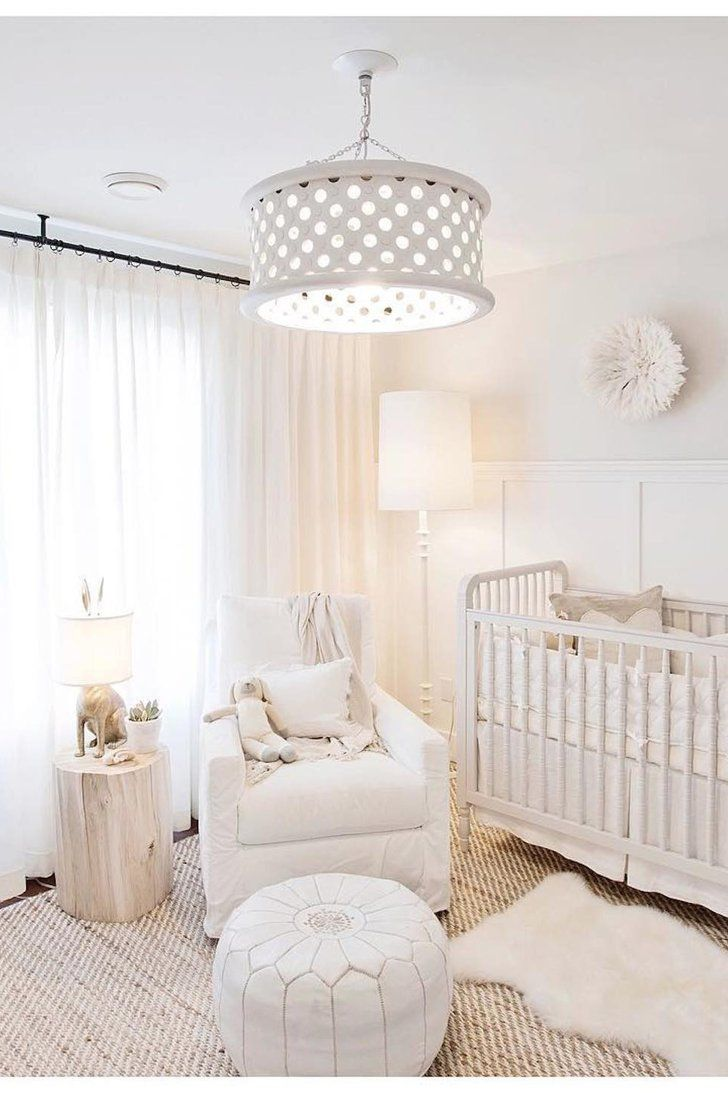 Jillian Harrisu0027s All-White Nursery Is Pure Perfection : baby room lighting ceiling - azcodes.com