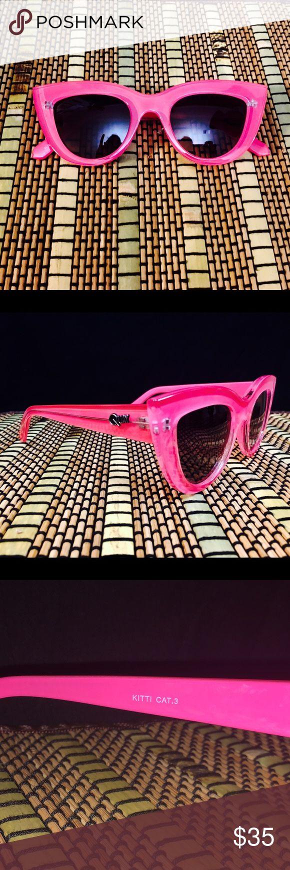 Quay Kitti Cat Sunnies Perfect Condition 🦄 💯% Authentic Quay Kitti Cat Sunglasses 😎 No scratches, perfect lenses, and overall perfect condition. These beauties will come with a Quay case, which is also in perfect condition! Quay Australia Accessories Sunglasses