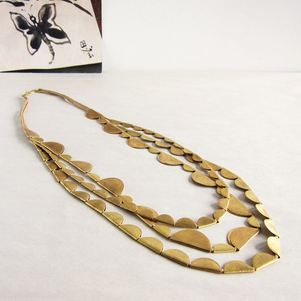 Roost Boost Half Moon necklace