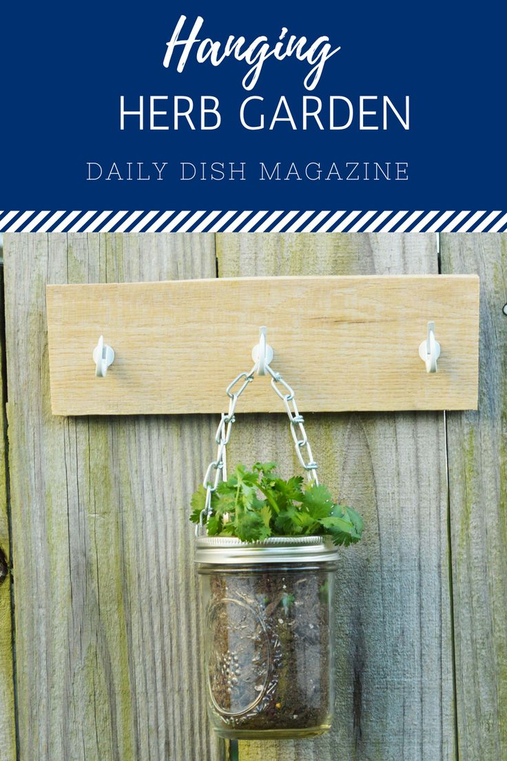Easy Hanging Herb Garden DIY