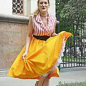 Купить или заказать Юбка бохо 'Песок' в интернет-магазине на Ярмарке Мастеров. Длинная юбка в стиле богемного шика, выполнена из новых, только что привезенных тканей: льна и хлопка. Пояс на резинке, юбочка плавно расширяется к низу, заканчивается двумя не пышными воланами.. Пастельные тона - песок, бежевый, коричневый -абсолютно универсальные сочетания, к которым подойдет любой верх - и яркий, выразительный, и неброский, как видим на фото.