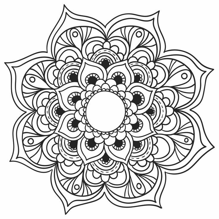 Imagens de Mandalas para você baixar, imprimir e colorir!