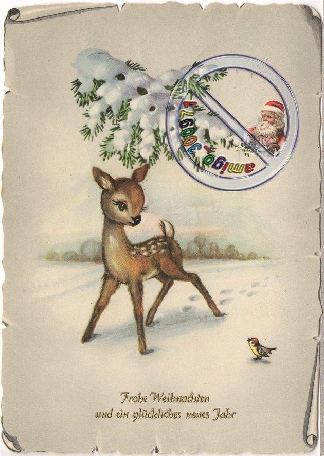 AFKH - AK- Frohe Weihnachten und ein Glückliches neues Jahr ( REH- gelaufen 1959 | eBay