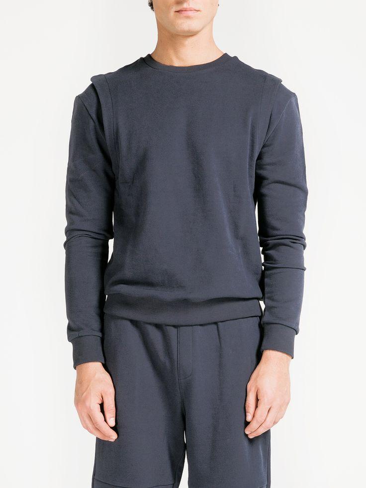 PUBLIC SCHOOL , Felix Sweatshirt  #navy #sweatshirt #publicschool #shopigo #shopigono17 #ss16 #conceptstore #onlinestore #onlineshopping #buyonline #onlineconceptstore #menswear #mensfashion #mensstyle #readytowear #fashion