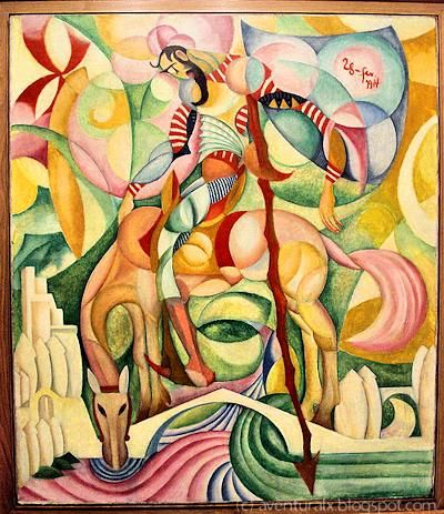 Amadeo de Souza-Cardoso - Don Quihote, 1914, Cubism