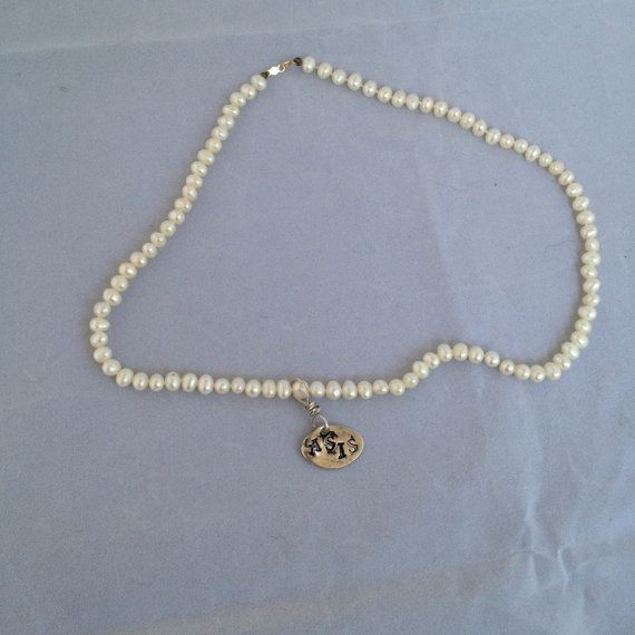 Freshwater pearl Necklace PMC CHARM by JanesAsIs on Etsy, $65.00