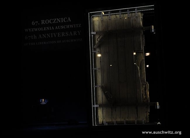 The 27th of January 2012 was the 67th anniversary of the liberation of the Nazi German Auschwitz concentration and extermination camp. That year we also commemorated the 70th anniversary of commencement of the mass extermination of Jews in the Birkenau gas chambers. During the anniversary ceremony, a unique relic was presented: the only preserved door to a gas chamber, deriving from one of the crematoriums, blown up by SS members at the end of the final evacuation of the camp.