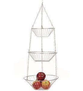 Create A Classic Storage Solution For Your Fruits And Vegetables While  Conserving Valuable Counter Space With. Hanging Fruit BasketsFruits ...