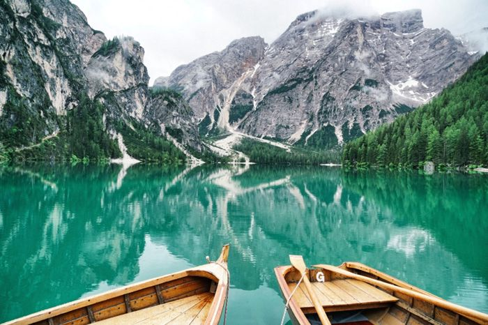 Der Pragser Wildsee im Hochpustertal