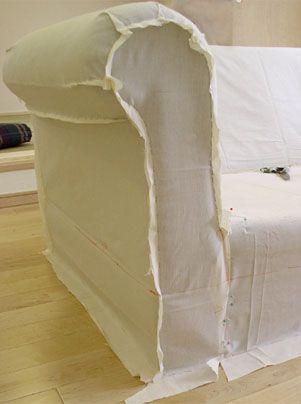 ティント・アンド・トォーン/ソファーカバー型取りの仕方