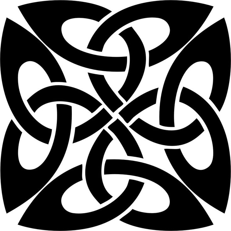 Scottish Symbols Black Celtic Knot Symbol Vinyl Decal