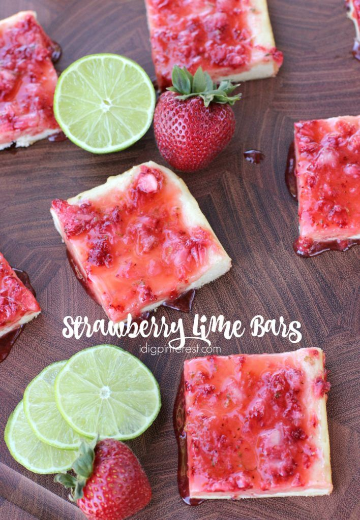 Strawberry Lime Bars. Summer days call for these luscious, soft cookie bars that are bursting with strawberry and lime flavor!