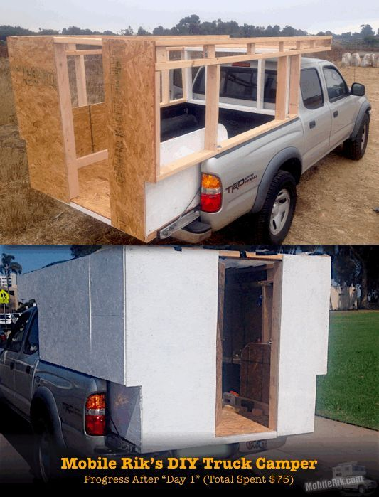 Great info on converting pickups to campers. Mobile Rik built a Homemade DIY Truck Camper for his Tacoma Prerunner for just $250