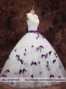 purple wedding dress - would love to wear this and have the butterflies represent my niece who passed away. When I see butterflies I think of her.