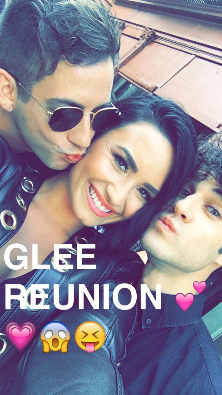 Kevin McHale, Demi Lovato and Darren Criss