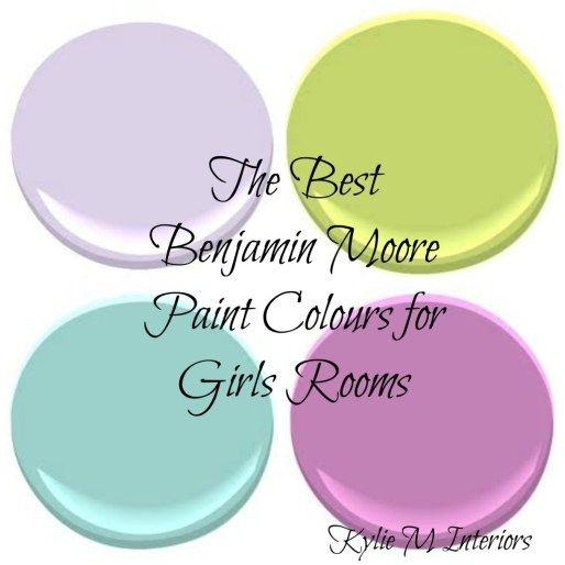 the best benjamin moore paint colours for girls rooms