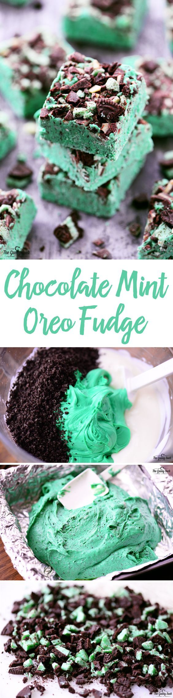 This Chocolate Mint Oreo Fudge recipe is smooth and creamy with crunchy bits of mint Oreos and Andes mints. It's easy to make with only five ingredients.