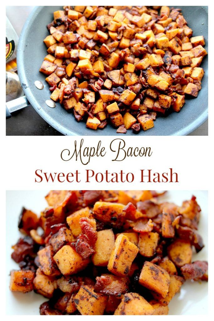 Maple Bacon Sweet Potato Hash :http://ourlittleeverything.com/recipe/maple-bacon-sweet-potato-hash/