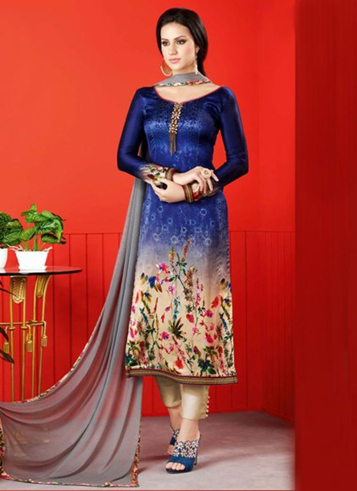 Buy Baronial Lace Work Navy Blue Churidar Designer Suit, Online   #DesignerSuits #DesignerSuitsOnlineShopping #onlineshopping #discount #sale #salwarkameez #salwarsuits #designer #festivalSale #festival #churidarsuits