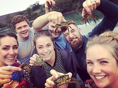 Crabbing   . . #holidays #salcombe #Devon #englishriviera #halfterm #october #autumn #boats #crab #crabs #crabbing #friends #fun #memories #sea #seaside #sealife #beach #outdoors #scenery #freshair #marine #lowerbatson #estuary #estuaryfishing #beard #beardgang