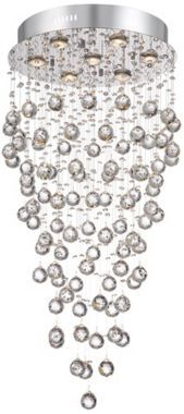 """Aida 17 3/4"""" Wide Pouring Crystal Ceiling Light"""