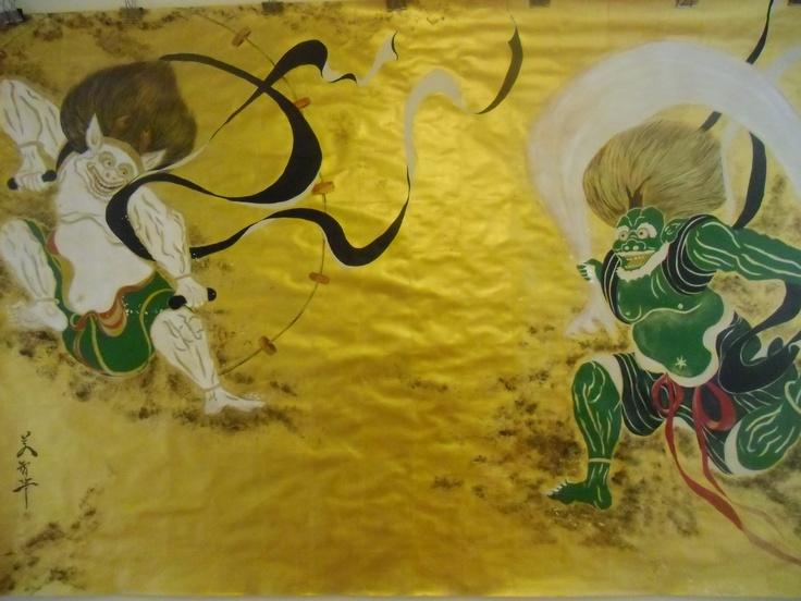 thander god, window god  (fu-jin, rai-jin)