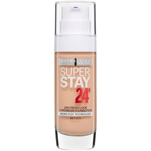 Maybelline maybelline ss24h foundation maybelline super stay 24 hour foundation useful info: flawless wear foundation resists heat and humidity sweat resistant…