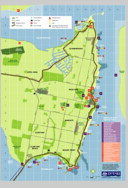 Redcliffe Tourist Map