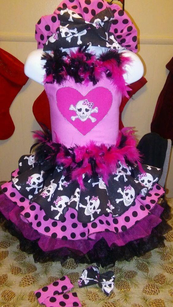 National Pageant Casual Wear Rock Wear Valentine's Day Wear  Size 3-5t #Handmade #DressyEverydayHoliday