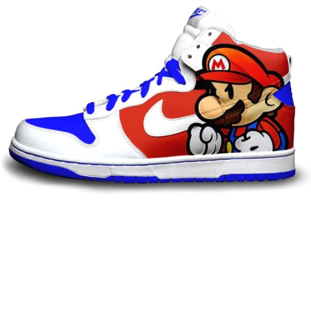 Buy super paper mario high tops nike dunks shoes - 61% OFF 2a560c19d
