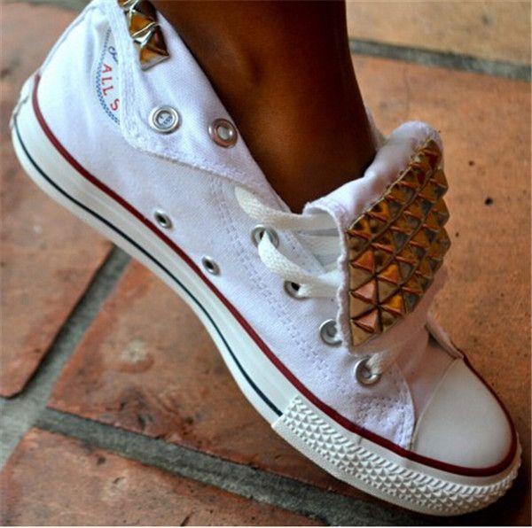 Aliexpress.com: Comprar 2015 nueva marca de estilo ruso de lona remache hombres mujeres 13 estilos de moda de ocio zapatos planos punky sapatos 30453 de zapatos zapatillas de baile fiable proveedores en AAZZ
