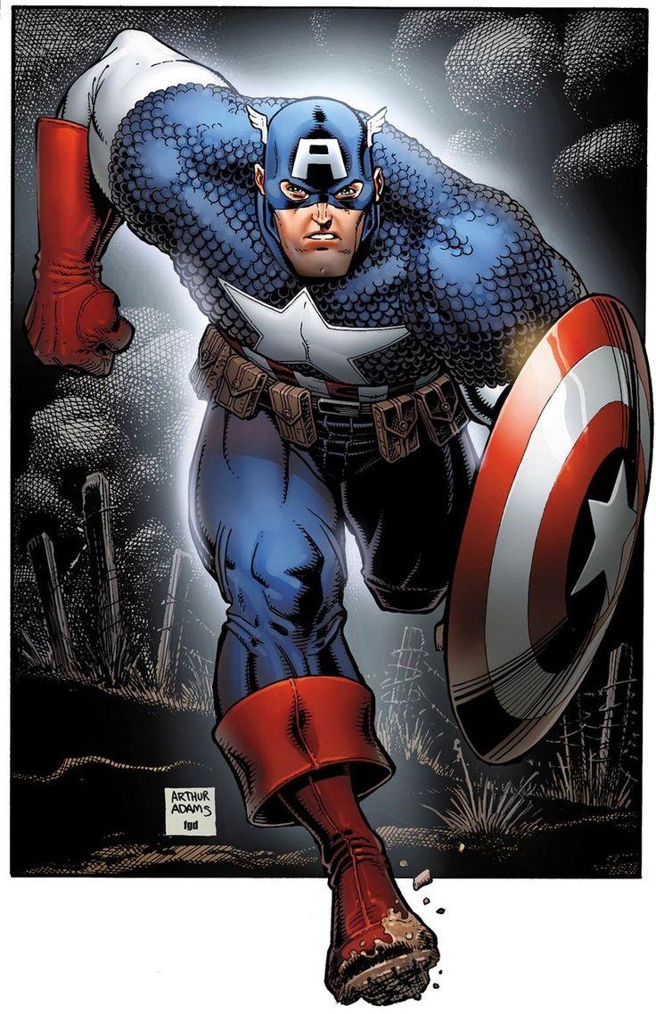 Captain America by Arthur Adams