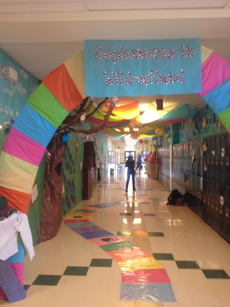 Candyland hallway for homecoming week. Just showing our school spirit!