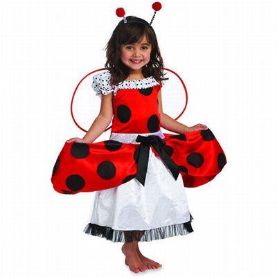 Lieveheersbeestje kostuum voor kleine dametjes. Schattig jurkje gebaseerd op de aankleedpop Lana Ladybird. Vleugeltjes en diadeem worden bij het jurkje geleverd. One size, voor kinderen tussen de 4 en 6 jaar.