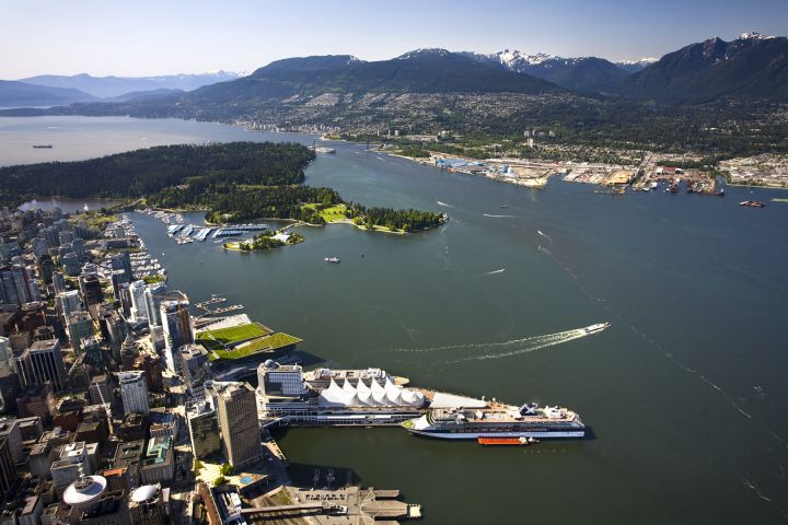 Port in Vancouver, BC Canada. May long weekend marks the start of cruise ship season in Vancouver (May 17,2014) What a gorgeous city to visit when taking a cruise !!!