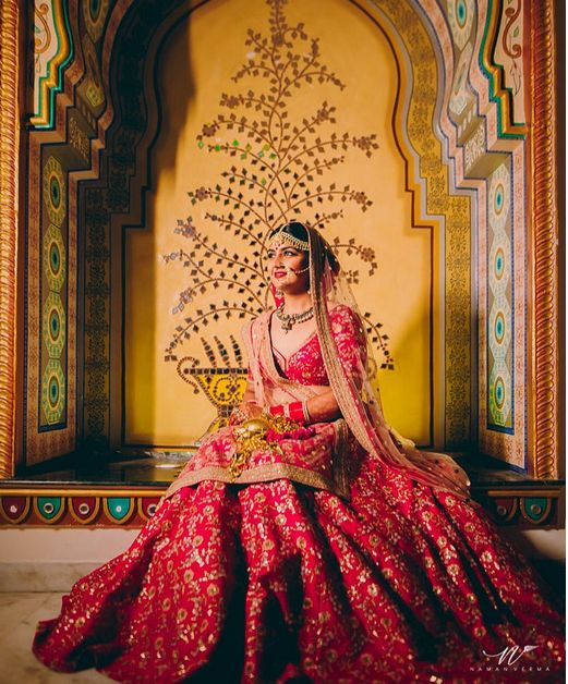 Red Bridal Leehenga